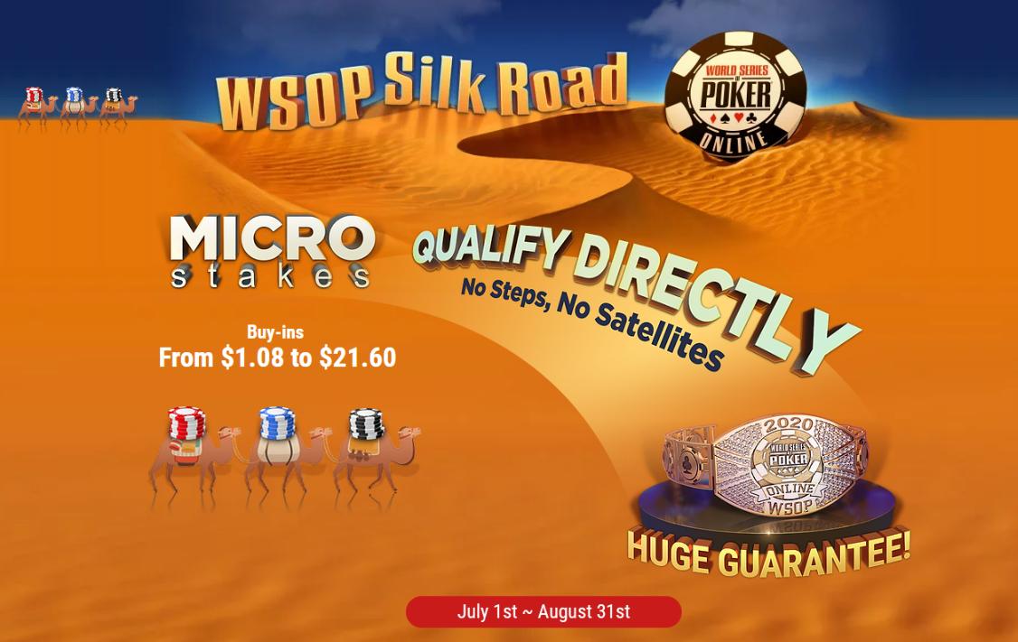 WSOP Silk Road: Amorcer sa route vers un bracelet avec un micro buy-in!