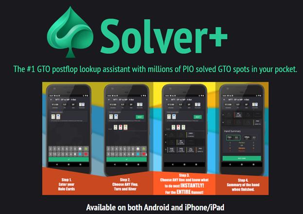 Solver + : Un solveur GTO portatif pour iPhone/iPad et Android