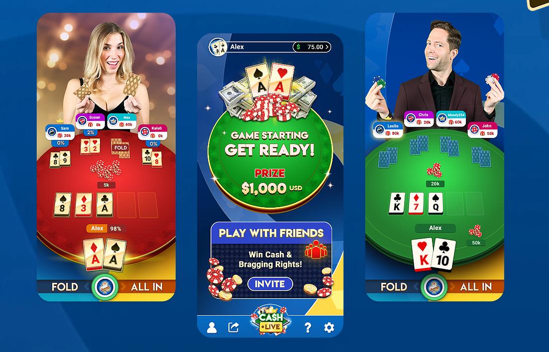 Deux fois par jour, découvrez le poker Cash Live!